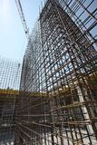 Scaffolding, construction site. Building area Royalty Free Stock Image