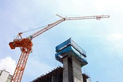 Scaffolding construction site Stock Image