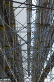 Scaffolding on construction site Royalty Free Stock Photo