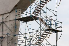 Scaffolding at a construction site Royalty Free Stock Photos