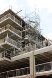 Scaffolding in construction site Stock Images