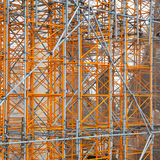 Scaffolding. Construction site - scaffolding around new building stock photography