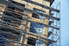 Scaffolding Construction Site Royalty Free Stock Images