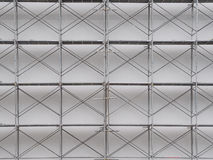 Scaffolding on construction site. Iron royalty free stock image