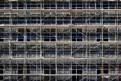 Scaffolding during construction Royalty Free Stock Images