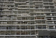 Scaffolding on a construction site Stock Photography