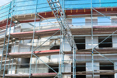 Scaffolding on construction site Stock Photos