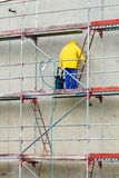 Scaffolding, construction site in progress Stock Photo