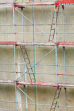 Scaffolding, construction site in progress Royalty Free Stock Image