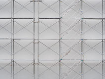 Scaffolding on construction site. With stairway royalty free stock photography