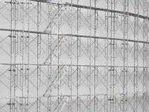 Scaffolding on construction site. With stairway royalty free stock images