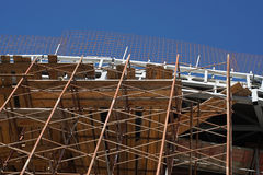 Scaffolding at construction site Royalty Free Stock Image
