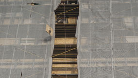 Scaffolding at construction site Stock Image