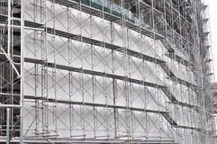 Scaffolding on a construction site Royalty Free Stock Image