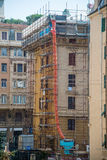 Scaffolding. For construction work around a building Royalty Free Stock Image