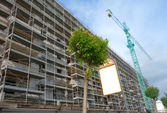 Scaffolding and Crane Royalty Free Stock Images