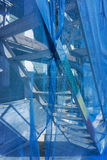 Scaffolding with debris netting Royalty Free Stock Photography