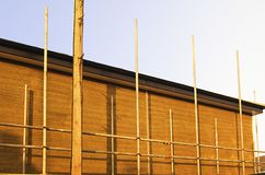 Scaffolding on domestic property Royalty Free Stock Photography