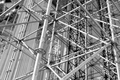 Scaffolding Elements Construction black and white Royalty Free Stock Image