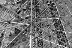 Scaffolding Elements Construction black and white Stock Photos