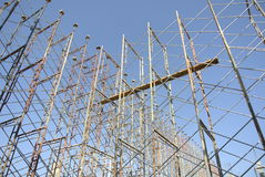 Scaffolding erected to support formwork Stock Photo