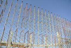 Scaffolding erected to support formwork Stock Images