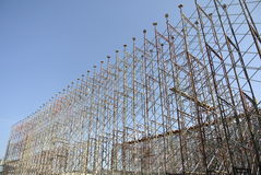 Scaffolding erected to support formwork Stock Photos