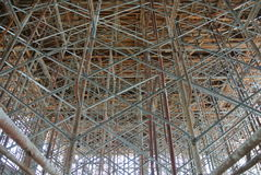 Scaffolding erected to support formwork Royalty Free Stock Image