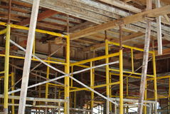 Scaffolding erected to support formwork Royalty Free Stock Photos
