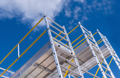 Scaffolding. Exhibition and sale of scaffolding stock photos
