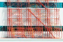 Scaffolding field Royalty Free Stock Images