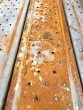 Scaffolding floor. Rusty scaffolding floor Stock Image