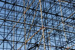 Scaffolding metal tubes structure pattern royalty free stock photography
