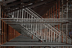 Scaffolding for granstand Stock Images