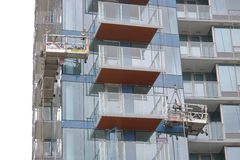 Scaffolding and Hi-Rise Apartment Tower Stock Photo