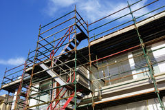 Scaffolding on House Construction Royalty Free Stock Photos