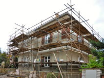Scaffolding on the house Stock Photography