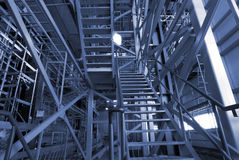 Scaffolding On An industrial construction Site Stock Image