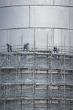 Scaffolding of industrial construction Stock Photos