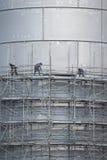 Scaffolding of industrial construction Stock Photos