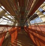 Scaffolding at the interior of the `Gloriette` Stock Photo