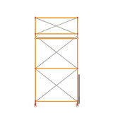 Scaffolding Isolated On White. Vector Color Realistic Illustration Of Scaffolding Isolated On White. Front View Stock Photo