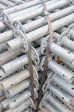Scaffolding material. The scaffolding material for construction Royalty Free Stock Image