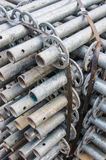 Scaffolding material. The scaffolding material for construction Royalty Free Stock Photos