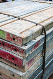 Scaffolding material. The scaffolding material for construction Stock Photography