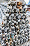 Scaffolding material. The scaffolding material for construction Stock Images