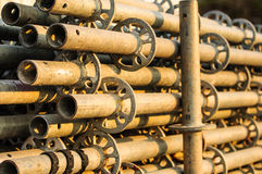 Scaffolding material. Of construction building Stock Photo