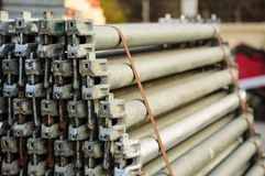 Scaffolding material. Of construction building Stock Images