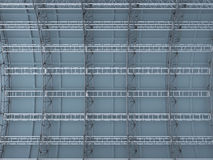 Scaffolding  metal truss on concrete wall  rendered background Stock Photography