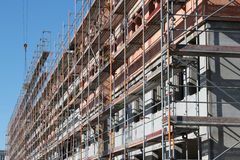 Scaffolding at new build Stock Images